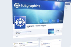 Social media facebook twitter design