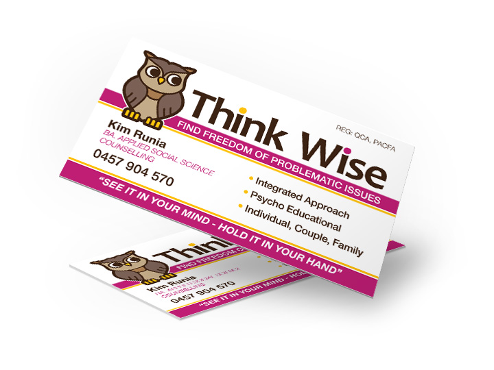 coolum counselling business cards