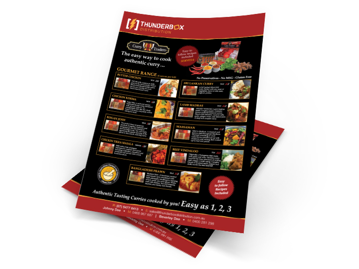 Flyers for Buderim Food Distributior