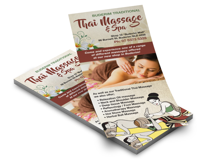Buderim Thai Massage flyers