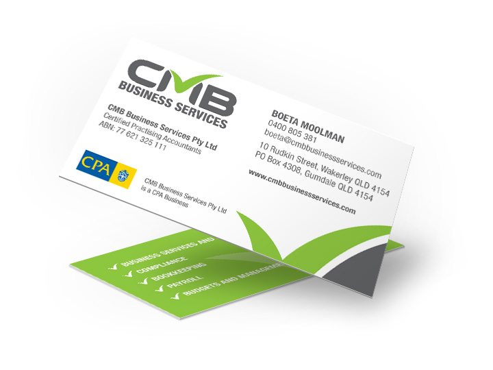 Caloundra Accountant Business Cards