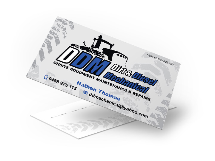 Cooroy diesel mechanic business cards