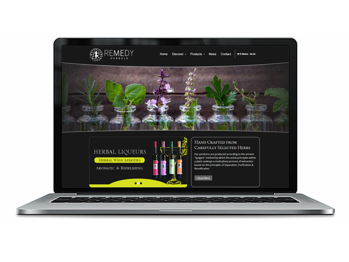 herbal supplements web design