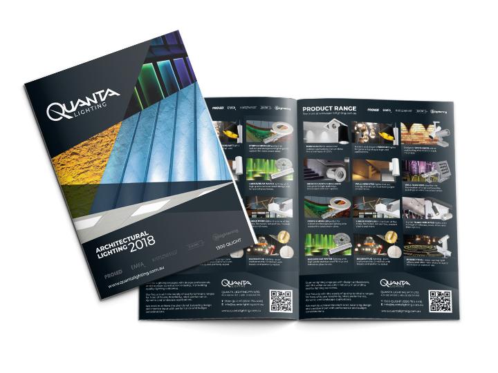 Brochure design and print for Brisbane lighting supplier