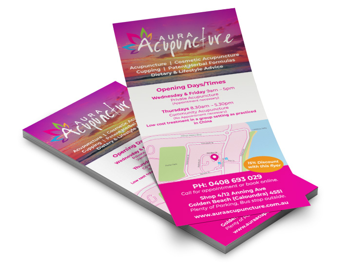 Caloundra Acupuncture Flyers