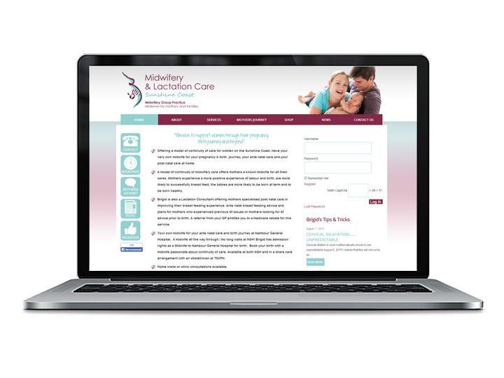 Sunshine Coast Midwifery Web Design