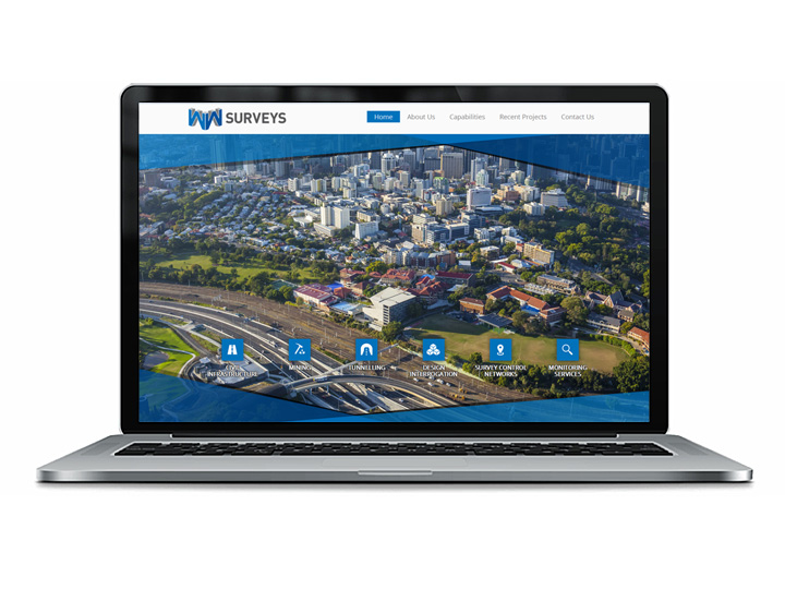 Brisbane surveyors web design